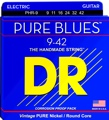 DR Strings PHR-9 Pure Blues Nickel Electric Strings (.009-.042 Lite)