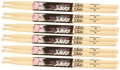 On-Stage Stands 5b Wood Tip Hickory Drumsticks (6-Pair)