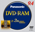 Panasonic Media DVD RAM Media