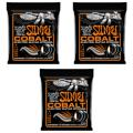Ernie Ball 2722 Cobalt Hybrid Slinky Electric Strings (.009-.046 3-Pack)