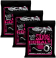 Ernie Ball 2723 Cobalt Super Slinky Electric Strings (.009-.042 3-Pack)