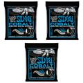 Ernie Ball 2725 Cobalt Extra Slinky Electric Strings (.008-.038 3-Pack)