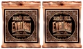 Ernie Ball 2546 Everlast Coated Phosphor Bronze Acoustic Strings (.012-.054 Med Light 2-Pack)
