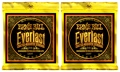 Ernie Ball 2558 Everlast Coated 80/20 Acoustic Strings (.011-.052 Light 2-Pack)