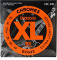 D'Addario ECG23 Chromes Flat Wound Electric Guitar Strings (.010-.048 Extra Light)