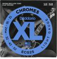 D'Addario ECG25 Chromes Flat Wound Electric Guitar Strings (.012-.052 Light)