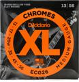D'Addario ECG26 Chromes Flat Wound Electric Guitar Strings (.013-.056 Medium)