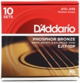 D'Addario EJ17 Phosphor Bronze Acoustic Guitar Strings (.013-.056 Medium 10-Pack)