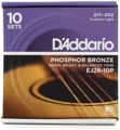 D'Addario EJ26 Phosphor Bronze Acoustic Guitar Strings (.011-.052 Custom Light 10-Pack)