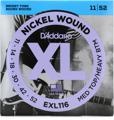 D'Addario EXL116 Nickel Wound Electric Guitar Strings (.011-.052 Med Top/Hvy Btm)