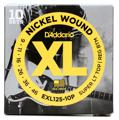 D'Addario EXL125 Nickel Wound Electric Guitar Strings (.009-.046 S. Lt/Reg Btm 10-pk)