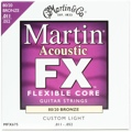 Martin FX675 Flexible Core 80/20 Bronze Acoustic Strings (.011-.052 Custom Light)