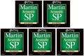 Martin MSP3000 SP 80/20 Bronze Acoustic Guitar Strings (.010-.047 Extra Light 5-Pack)