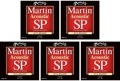 Martin MSP3100 SP 80/20 Bronze Acoustic Guitar Strings (.012-.054 Light 5-Pack)