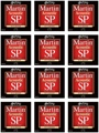 Martin MSP3100 SP 80/20 Bronze Acoustic Guitar Strings (.012-.054 Light 12-Pack)