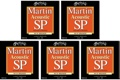 Martin MSP3150 SP 80/20 Bronze Acoustic Guitar Strings (.0125-.055 Lt/Med 5-Pack)