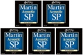 Martin MSP3200 SP 80/20 Bronze Acoustic Guitar Strings (.013-.056 Medium 5-Pack)