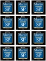 Martin MSP3200 SP 80/20 Bronze Acoustic Guitar Strings (.013-.056 Medium 12-Pack)