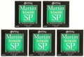 Martin MSP4000 SP 92/8 Phosphor Bronze Acoustic Strings (.010-.047 Extra Light 5-Pack)