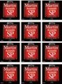 Martin MSP4100 SP 92/8 Phosphor Bronze Acoustic Strings (.012-.054 Light 12-Pack)