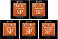 Martin MSP4150 SP 92/8 Phosphor Bronze Acoustic Strings (.0125-.055 Light/Med 5-Pack)