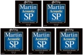 Martin MSP4200 SP 92/8 Phosphor Bronze Acoustic Strings (.013-.056 Medium 5-Pack)