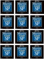Martin MSP4200 SP 92/8 Phosphor Bronze Acoustic Strings (.013-.056 Medium 12-Pack)