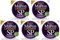 Martin MSP6050 SP Lifespan 80/20 Bronze Acoustic Strings (.011-.052 Custom Light 5-Pack)