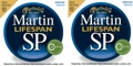 Martin MSP6200 SP Lifespan 80/20 Bronze Acoustic Strings (.013-.056 Medium 2-Pack)