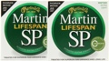 Martin MSP7000 SP Lifespan 92/8 Phosphor Bronze Strings (.010-.047 Extra Light 2-Pack)