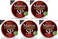 Martin MSP7100 SP Lifespan 92/8 Phosphor Bronze Strings (.012-.054 Light 5-Pack)