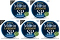 Martin MSP7200 SP Lifespan 92/8 Phosphor Bronze Strings (.013-.056 Medium 5-Pack)