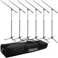 On-Stage Stands MS7701B Euro Boom Microphone Stand Package (6 Stands with Bag)
