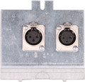 Pro Co FP2 Series Floor Plate ((2) XLR F)