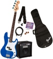 Squier P Bass Pack with Rumble 15 Amplifier (Metallic Blue)
