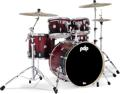 PDP Concept Maple (5-pc, Red to Black Sparkle Fade)