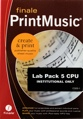 MakeMusic Finale PrintMusic 2011 Lab 5-pack