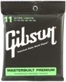 Gibson Accessories SAG-MB11 Masterbuilt Premium Phosphor Bronze Acoustic Strings (.011-.050 Ultra Light)