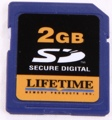 Lifetime Memory SD Card (2 GB)
