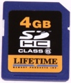 Lifetime Memory SDHC Card (4 GB)