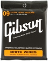 Gibson Accessories 700ULMC Brite Wires Electric Strings (.009-.046 - Ultra Light Med Cst)