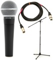 Shure SM58 Handheld Microphone with Stand and Cable Package