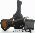 Squier Affinity Series Strat HSS with G-DEC Junior Amp (Brown Sunburst)