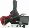 Squier Affinity Series Strat HSS with G-DEC Junior Amp (Candy Apple Red)