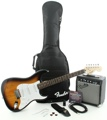 Squier Affinity Strat Pak SSS with Frontman 10G Amp (Brown Sunburst)