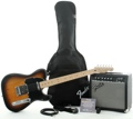 Squier Affinity Tele Pak with Frontman 15G (Brown Sunburst )