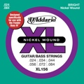 D'Addario XL156 Nickel Wound Fender Bass VI Strings