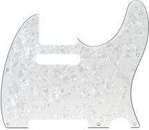 Fender Accessories Standard Telecaster Pickguard (White Pearloid 8-Hole)