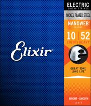 Elixir Strings Nanoweb Electric Strings (.010-.052 Lght Top Hvy Bottom)