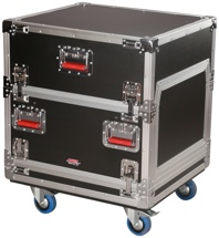 Gator 14U Over 6U Rack case w/Casters